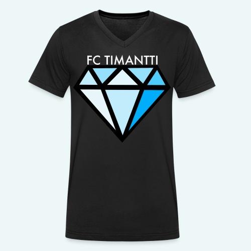 FCTimantti logo valkteksti futura - Stanley & Stellan miesten luomupikeepaita