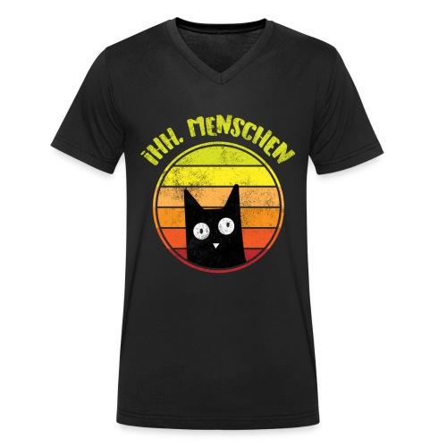 Ih, Menschen Lustiges Katzen Motiv - Männer Bio-T-Shirt mit V-Ausschnitt von Stanley & Stella