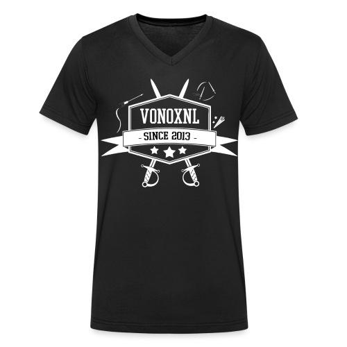 vonoxnl trans 300dpi 3 - Mannen bio T-shirt met V-hals van Stanley & Stella