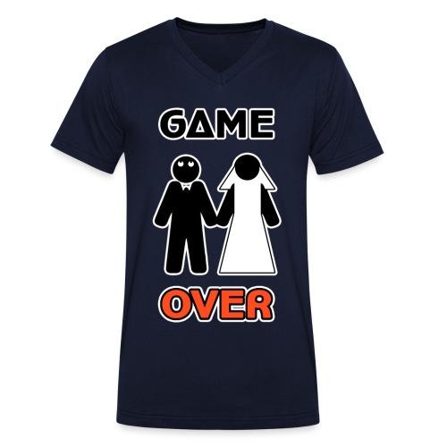 Addio al Celibato - Game Over - T-shirt ecologica da uomo con scollo a V di Stanley & Stella