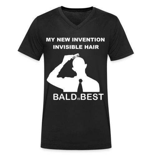 INVISIBLE HAIR - Männer Bio-T-Shirt mit V-Ausschnitt von Stanley & Stella