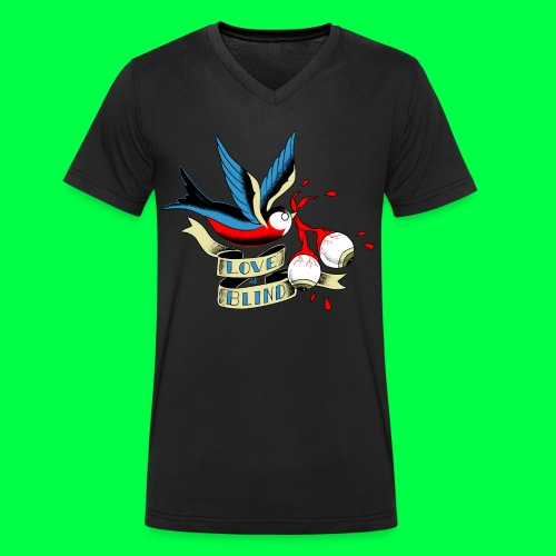 love is blind - T-shirt bio col V Stanley & Stella Homme