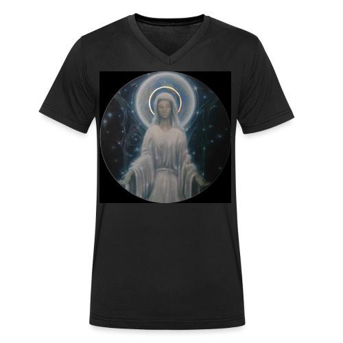 圣母玛利亚 Notre Dame by Jean Libon (Noir) - T-shirt bio col V Stanley & Stella Homme