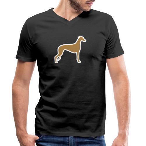 Greyhound - Männer Bio-T-Shirt mit V-Ausschnitt von Stanley & Stella