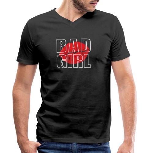 Bad girl - Camiseta ecológica hombre con cuello de pico de Stanley & Stella