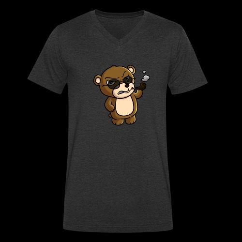 AngryTeddy - Men's Organic V-Neck T-Shirt by Stanley & Stella