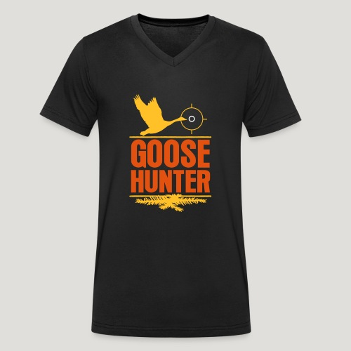 Jägershirt Gänse Jäger Goose Hunter Wildgans Jagd - Männer Bio-T-Shirt mit V-Ausschnitt von Stanley & Stella