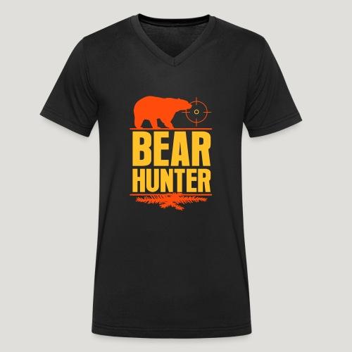 Jäger Shirt Bären Jäger - Bear Hunter Jagd Wild - Männer Bio-T-Shirt mit V-Ausschnitt von Stanley & Stella