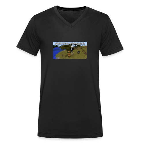minecraft - Men's Organic V-Neck T-Shirt by Stanley & Stella
