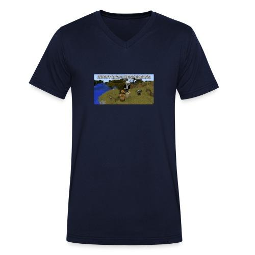minecraft - Men's Organic V-Neck T-Shirt by Stanley & Stella