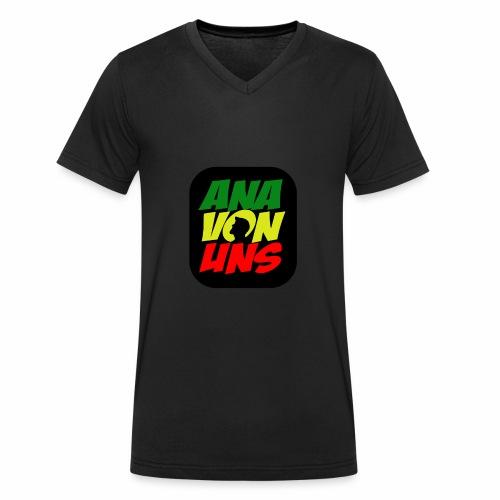 Ana Von Uns - Männer Bio-T-Shirt mit V-Ausschnitt von Stanley & Stella