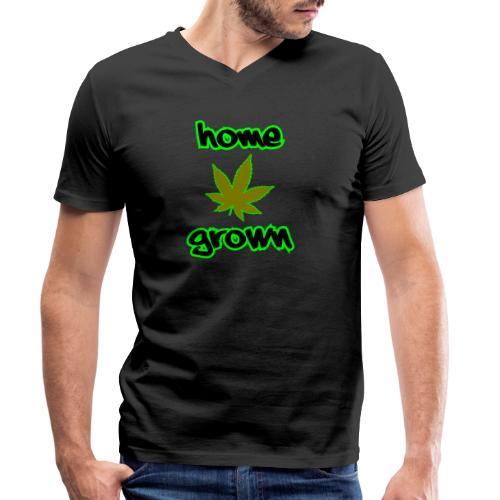 Home Grown - Men's Organic V-Neck T-Shirt by Stanley & Stella