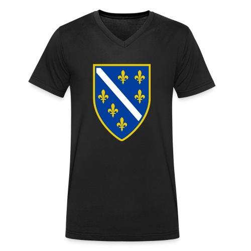Alt bosnisches Wappen - Männer Bio-T-Shirt mit V-Ausschnitt von Stanley & Stella