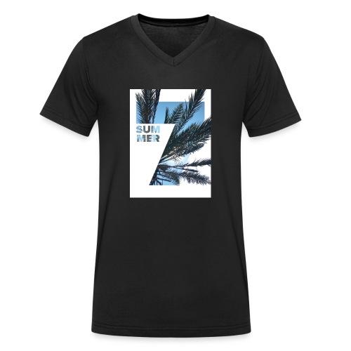 Summertime - Mannen bio T-shirt met V-hals van Stanley & Stella