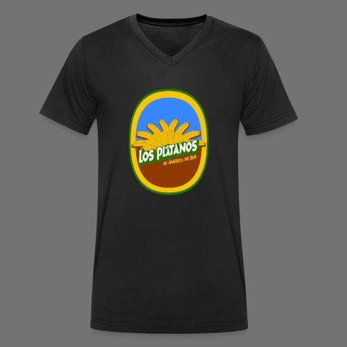 Los Platanos - Men's Organic V-Neck T-Shirt by Stanley & Stella