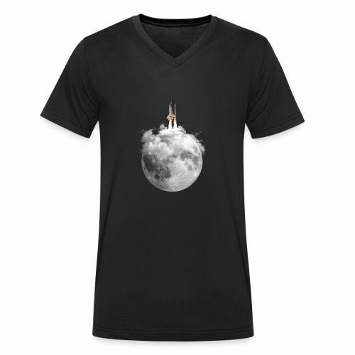 Mondrakete - Männer Bio-T-Shirt mit V-Ausschnitt von Stanley & Stella