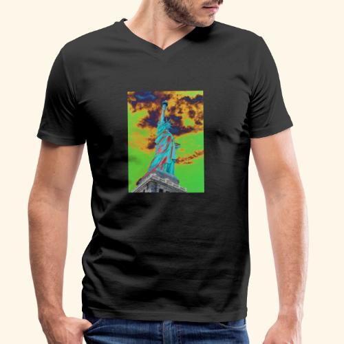 Statua della libertà - T-shirt ecologica da uomo con scollo a V di Stanley & Stella