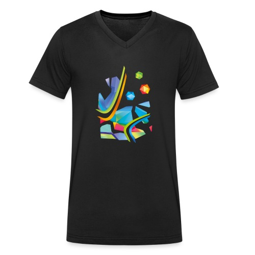 Fresh Works 3D Graffiti - Men's Organic V-Neck T-Shirt by Stanley & Stella