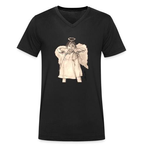 Frecher Engel - Männer Bio-T-Shirt mit V-Ausschnitt von Stanley & Stella