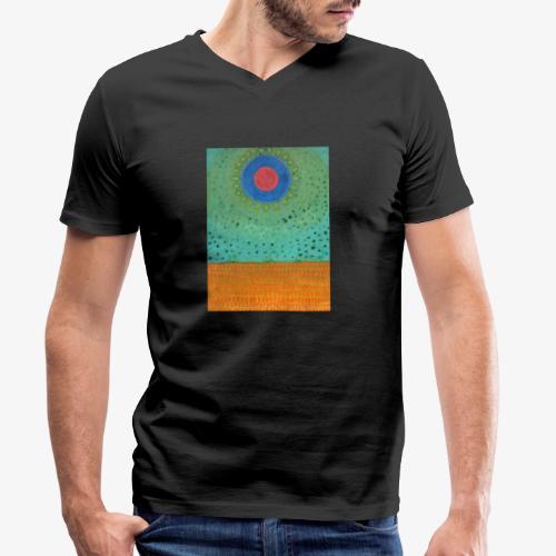 Noc Nad Pustynią - Ekologiczna koszulka męska z dekoltem w serek Stanley & Stella