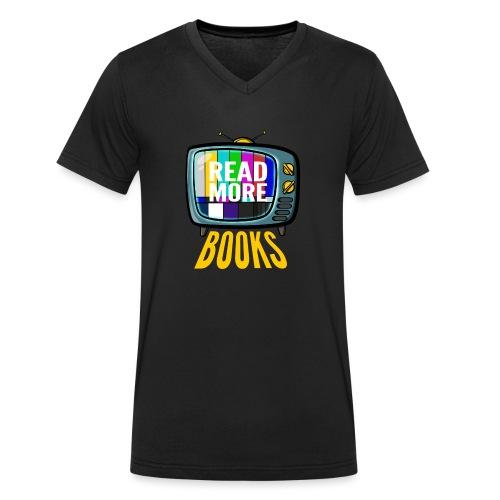 Read more books - Männer Bio-T-Shirt mit V-Ausschnitt von Stanley & Stella
