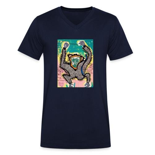 the monkey - T-shirt ecologica da uomo con scollo a V di Stanley & Stella