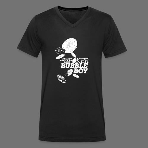 Poker - Bubble Boy (white) - Men's Organic V-Neck T-Shirt by Stanley & Stella