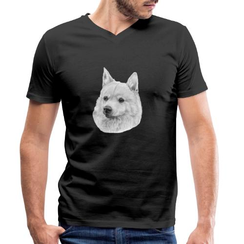 norwegian Buhund - Økologisk Stanley & Stella T-shirt med V-udskæring til herrer