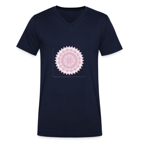 Mandala - Men's Organic V-Neck T-Shirt by Stanley & Stella
