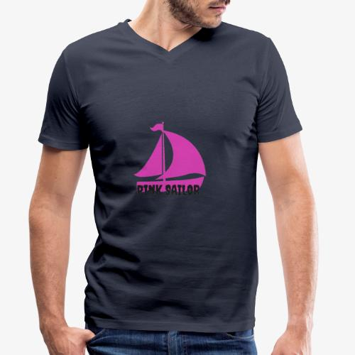 PINK SAILOR - Ekologisk T-shirt med V-ringning herr från Stanley & Stella