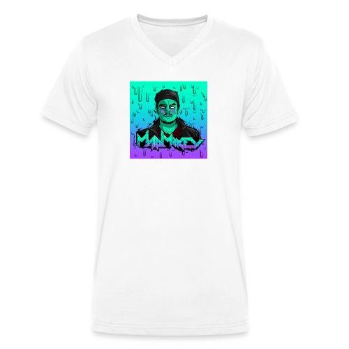 MadMikey Grime Art Sticky Green - Mannen bio T-shirt met V-hals van Stanley & Stella