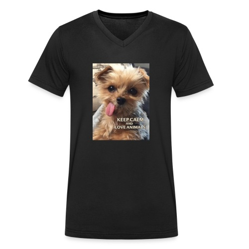 Dog - Männer Bio-T-Shirt mit V-Ausschnitt von Stanley & Stella
