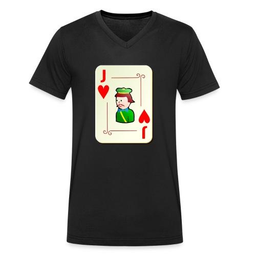 Jack Hearts png - Men's Organic V-Neck T-Shirt by Stanley & Stella