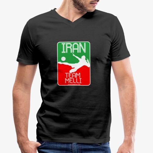 Iran Team Melli - Männer Bio-T-Shirt mit V-Ausschnitt von Stanley & Stella