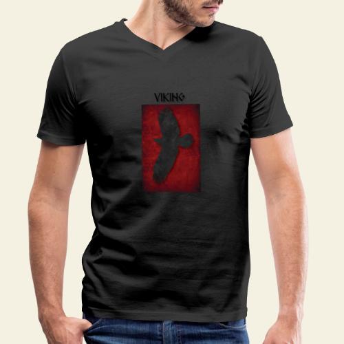 ravneflaget viking - Økologisk Stanley & Stella T-shirt med V-udskæring til herrer