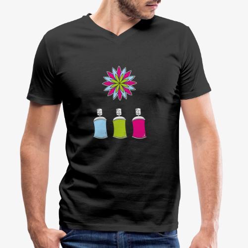 SOLRAC Spray of colors - Camiseta ecológica hombre con cuello de pico de Stanley & Stella