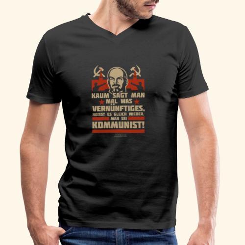 Sprüche T-Shirt Lenin Kommunist - Männer Bio-T-Shirt mit V-Ausschnitt von Stanley & Stella