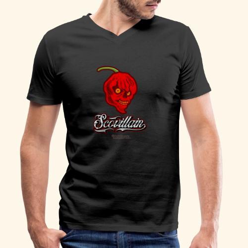 Chili Chilischote Chilihead Scovillain - Männer Bio-T-Shirt mit V-Ausschnitt von Stanley & Stella