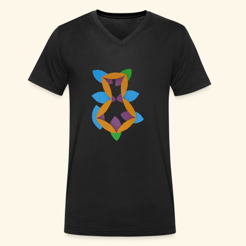 oranjeblanjebleu - Mannen bio T-shirt met V-hals van Stanley & Stella