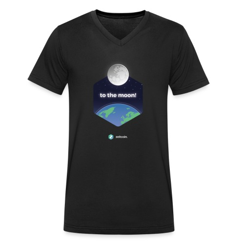 zeit earthrise - Men's Organic V-Neck T-Shirt by Stanley & Stella