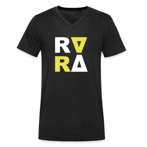 rira cube white - Männer Bio-T-Shirt mit V-Ausschnitt von Stanley & Stella