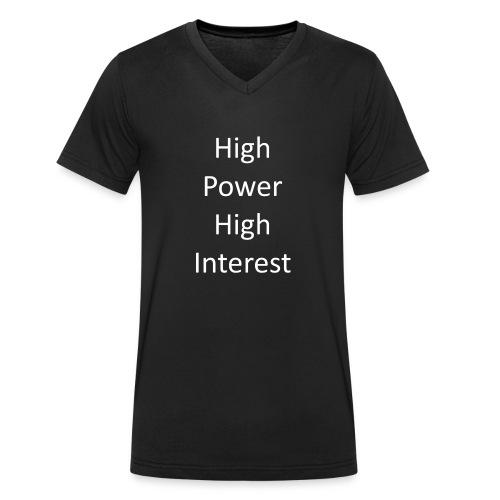 high power high interest - Men's Organic V-Neck T-Shirt by Stanley & Stella