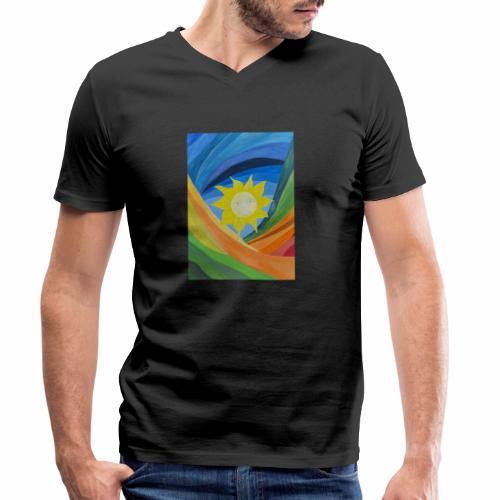 lachende-sonne - Männer Bio-T-Shirt mit V-Ausschnitt von Stanley & Stella