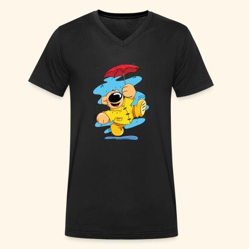 Der Bär tanzt im Regen - Männer Bio-T-Shirt mit V-Ausschnitt von Stanley & Stella