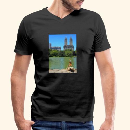 Dipinto americano - T-shirt ecologica da uomo con scollo a V di Stanley & Stella