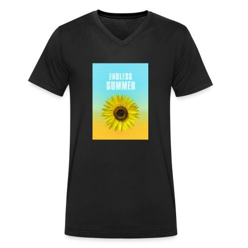 sunflower endless summer Sonnenblume Sommer - Men's Organic V-Neck T-Shirt by Stanley & Stella