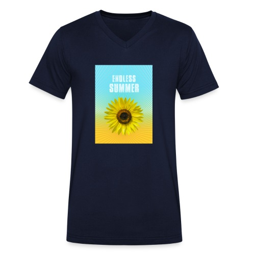 sunflower endless summer Sonnenblume Sommer - Men's Organic V-Neck T-Shirt by Stanley & Stella