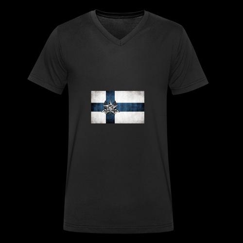 Suomen lippu - Stanley & Stellan miesten luomupikeepaita