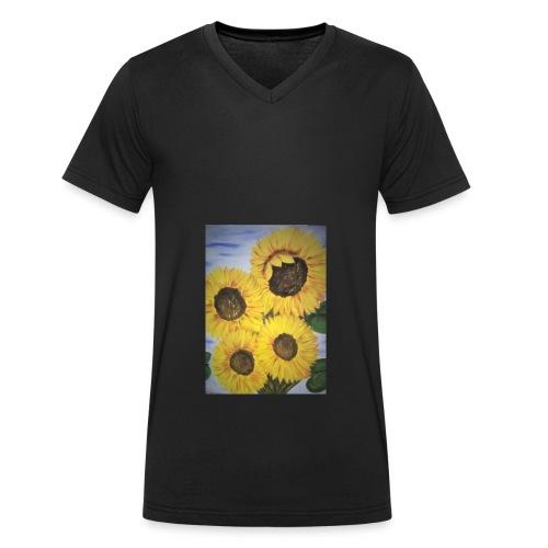 SonnenblumeIMG 20180815 090758 - Männer Bio-T-Shirt mit V-Ausschnitt von Stanley & Stella