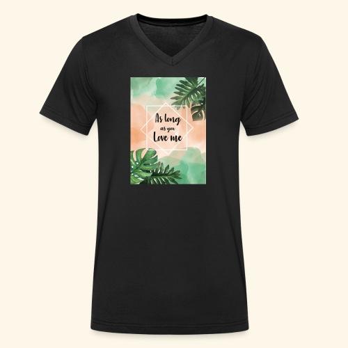 love me - T-shirt ecologica da uomo con scollo a V di Stanley & Stella